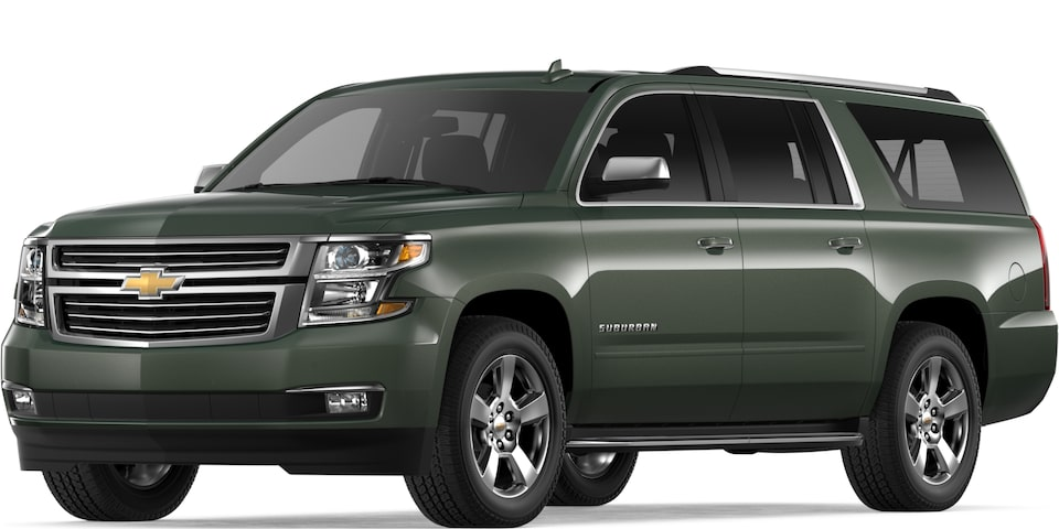 2019 Suburban in Deepwood Green Metallic