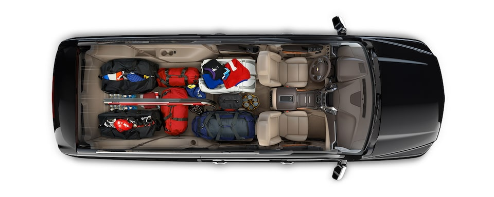 2019 Suburban SUV Design: interior cargo - game time
