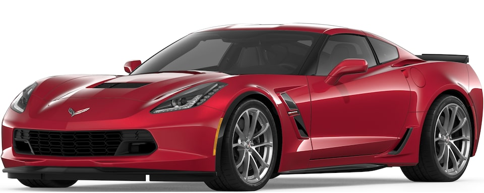 Corvette Grand Sport Coupe in Long Beach red Metallic Tintcoat