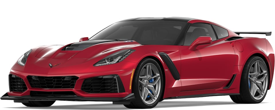 Corvette ZR1 in Long Beach red Metallic Tintcoat