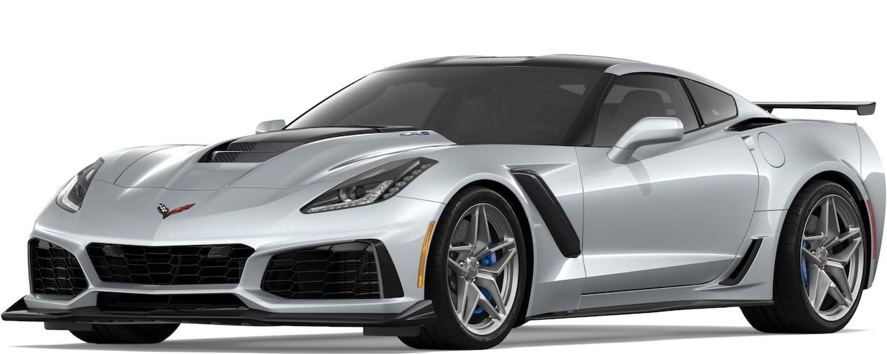Corvette ZR1 in Blade Silver Metallic