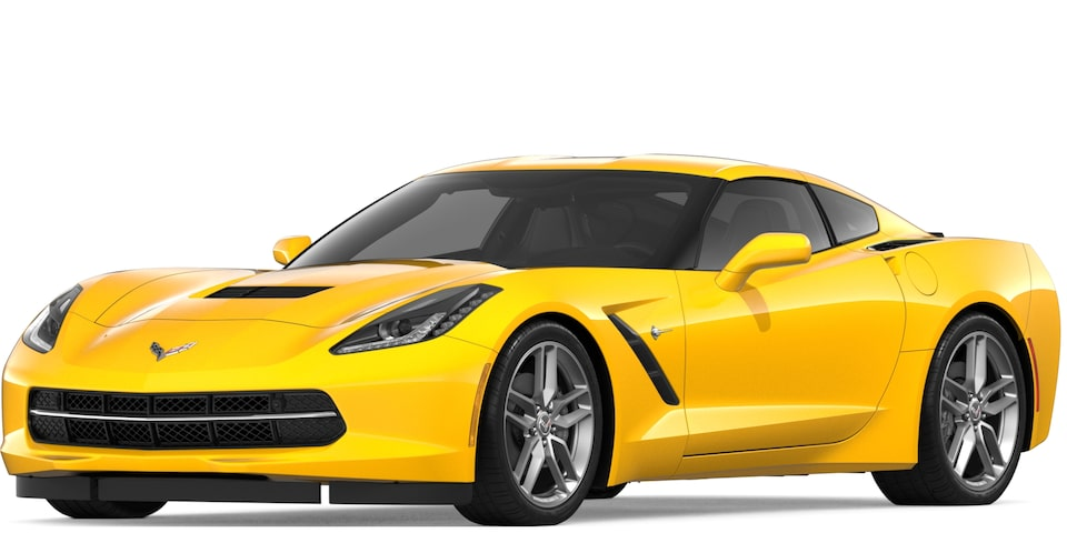 Corvette Stingray Coupe in Corvette Racing Yellow Tintcoat
