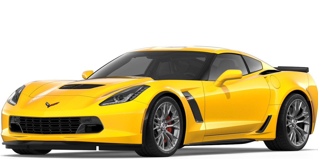 Corvette Z06 Coupe in Corvette Racing Yellow Tintcoat