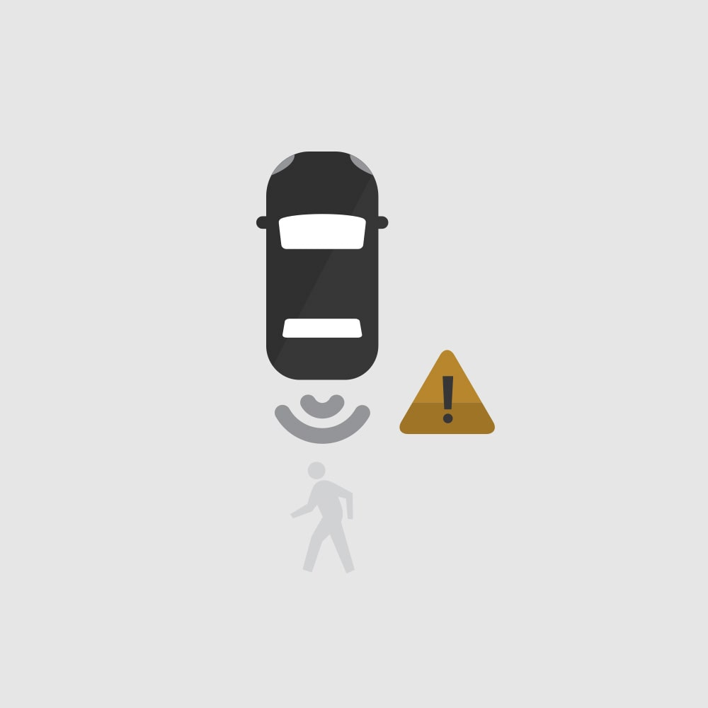 Rear Pedestrian Alert Icon