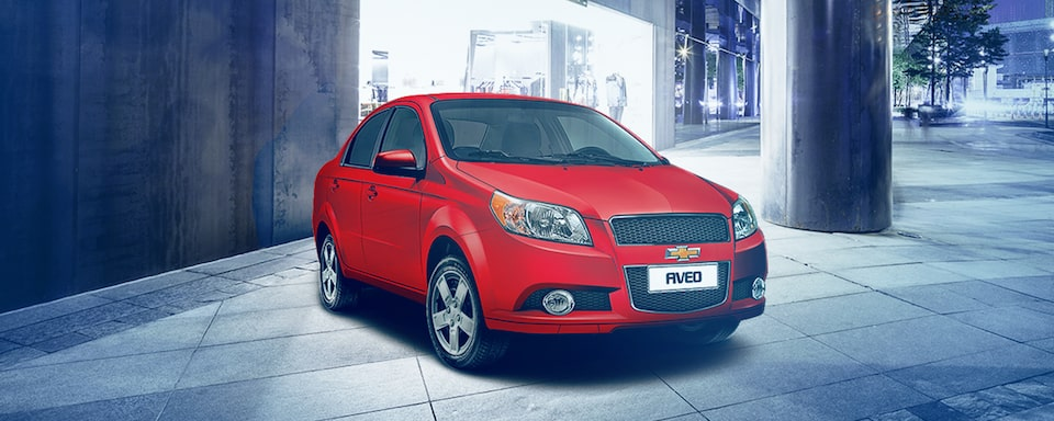 2018 Aveo Designed to be different :  Front beauty shot front of store