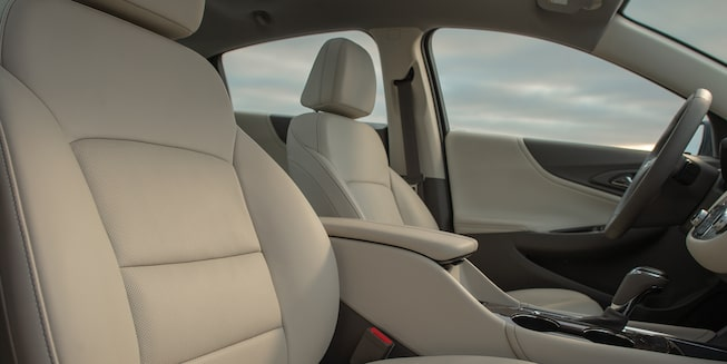 2027 Malibu Mid Size Car interior Photo: back seats