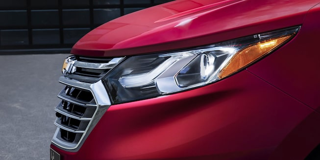 2020 Red Equinox Small SUV head lights