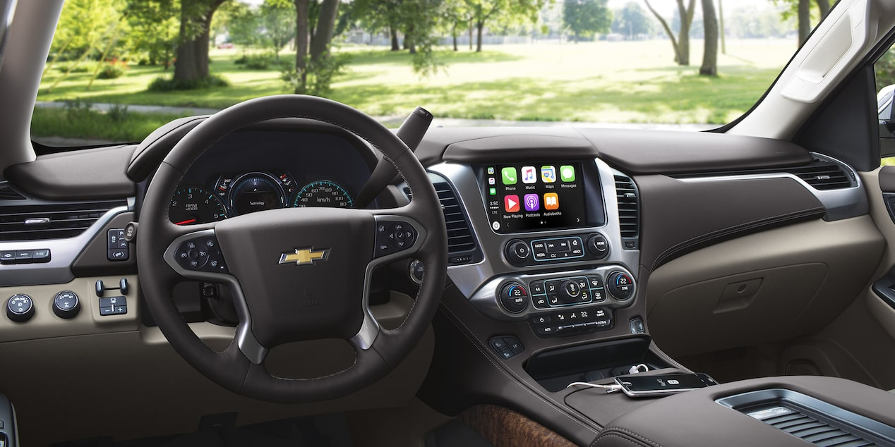 2019 Tahoe car interior with display
