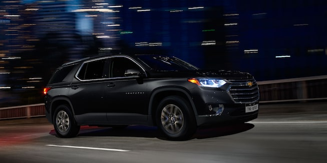 2021 Traverse Midsize SUV Exterior Photo:  side view black