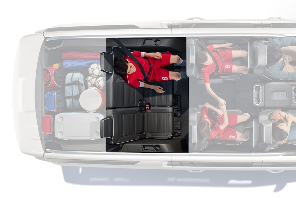 2021 Suburban interior third row seat - birds eye