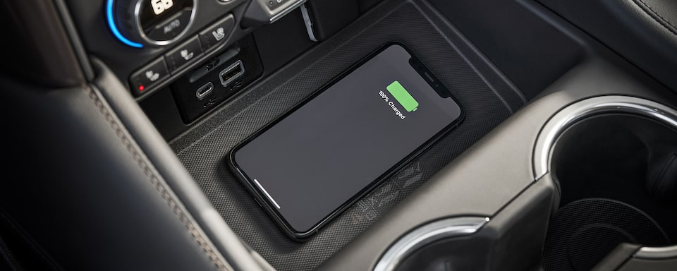 2021 Suburban wireless charging