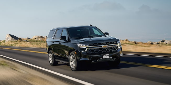 2021 Tahoe Exterior Side Profile in Black