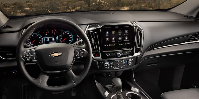 2020 Traverse Midsize SUV Interior Photo:  display