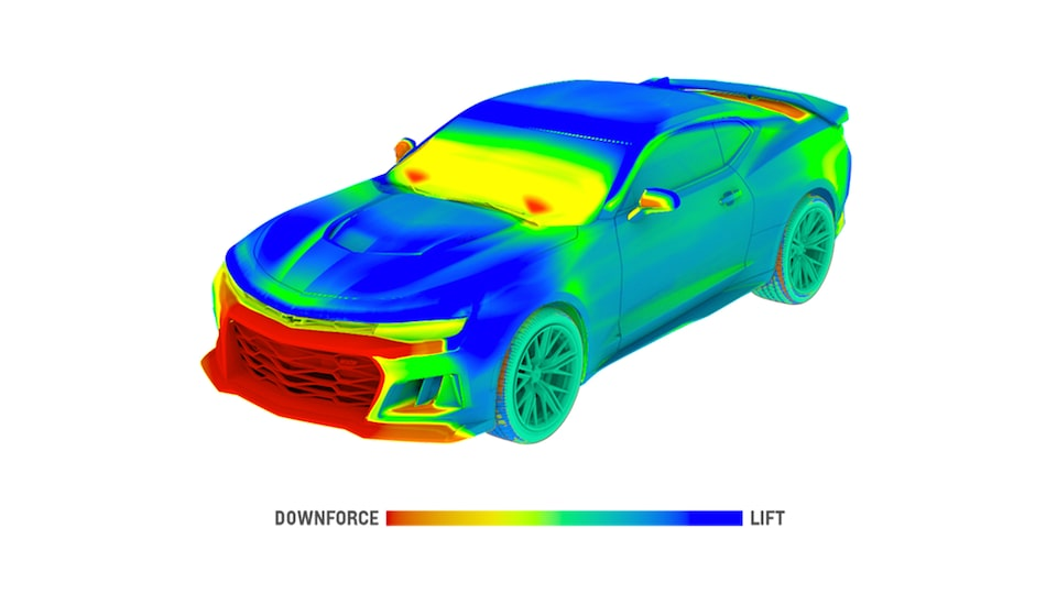 2018 Camaro Sports Car Performance: aerodynamic model