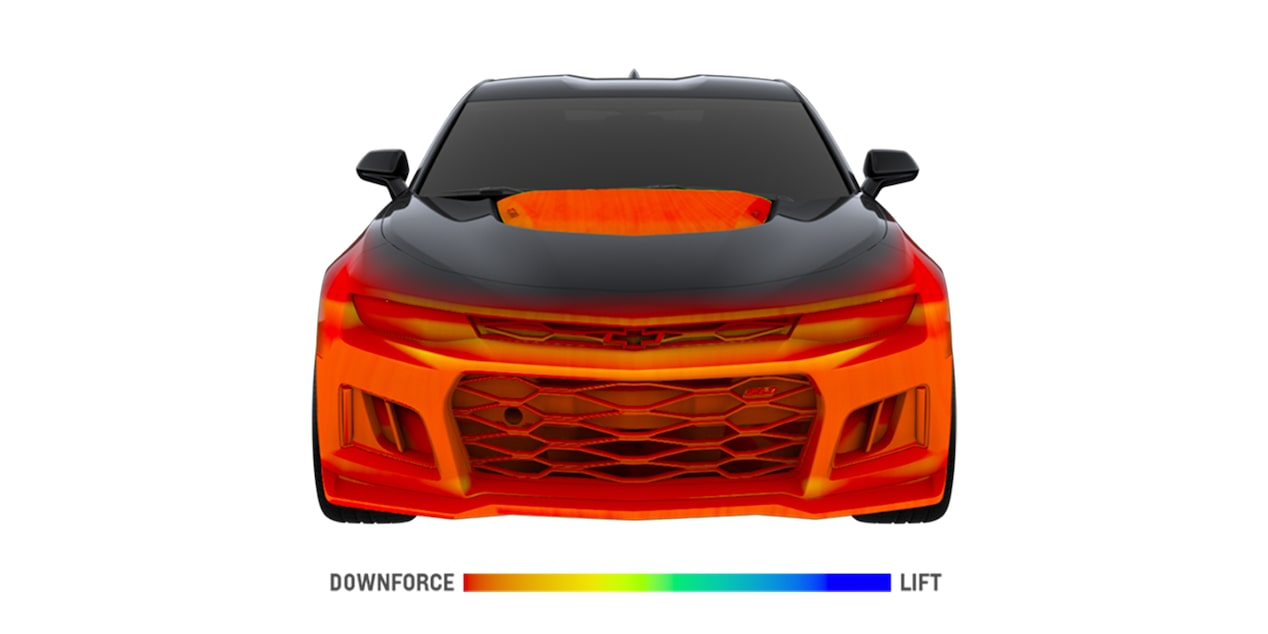 2018 Camaro Sports Car Performance: aerodynamic model - front grille