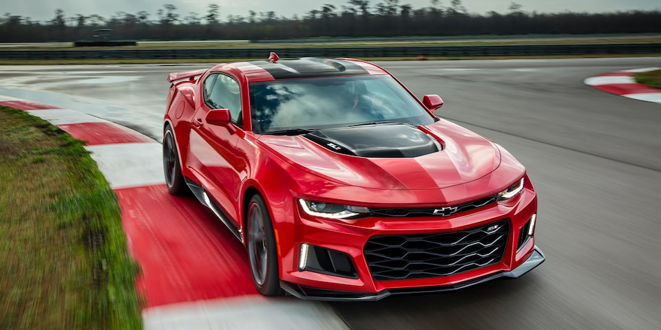 2019 Camaro ZL1 Red Front View Shot