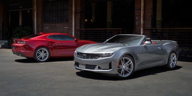 2019 Camaro Exterior Photo: rear 3lt coupe and front 3lt convertible