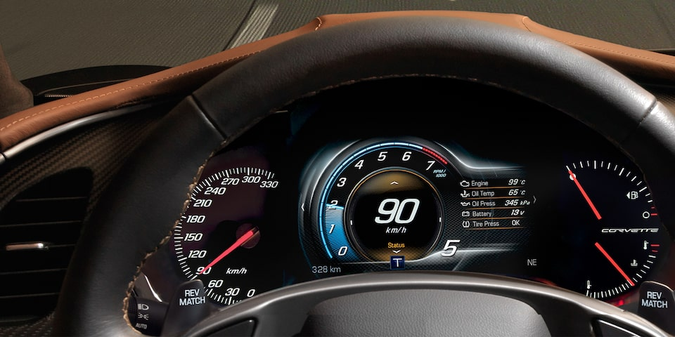 2019 Corvette Grand Sport Sports Car Performance: instrument cluster