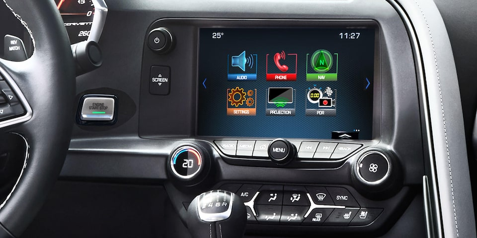 2019 Corvette Stingray Sports Car Technology: color touch infotainment
