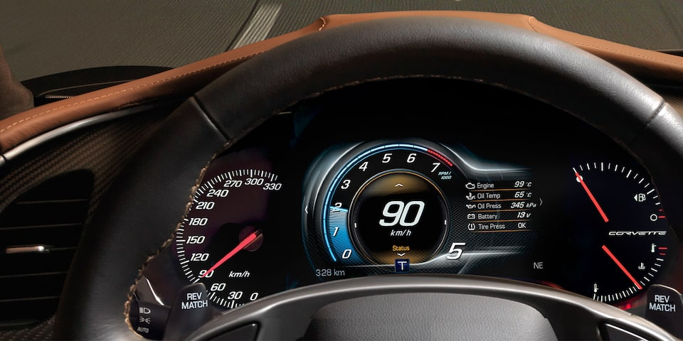 2019 Corvette Stingray Sports Car Performance: instrument cluster