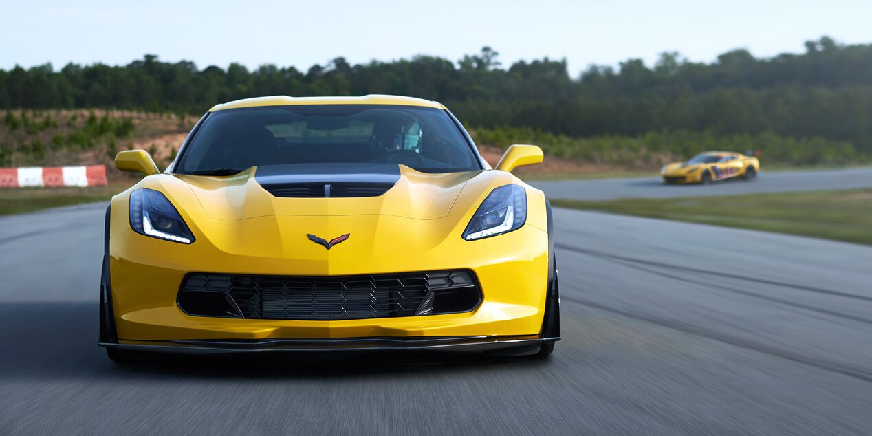 2019 Corvette Z06 Super Car Design: front profile