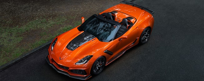 2019 Corvette ZR1 Supercar: top view