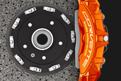 2019 Corvette ZR1 Supercar: Brembo carbon ceramic brakes