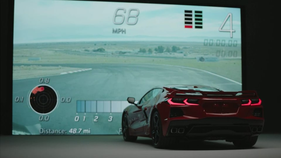 2020 Chevrolet Corvette Mid-Engine Sports Car Simulator video