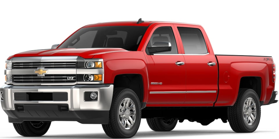 Silverado 2500 HD in Red Hot